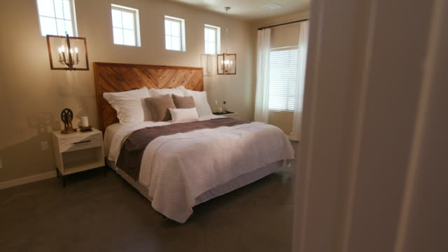 Rustic Industrial Bedroom Reveal Panning Left From Doorway video
