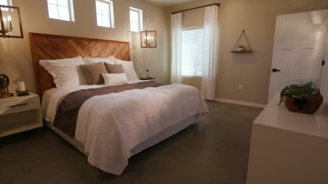 Rustic Industrial Bedroom Rising Left Angle from Floor video