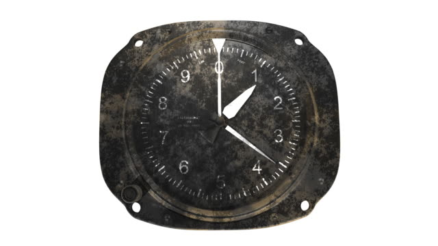 Rusty altimeter on white background video