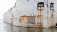 Rusty hull. video