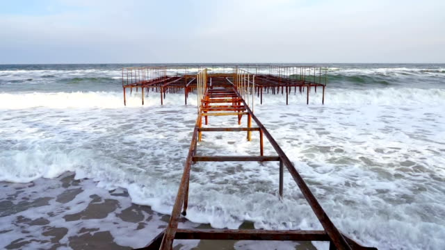 Rusty Old Pier. video