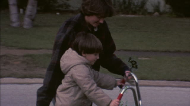 70's 8mm footage learning to ride a bike video