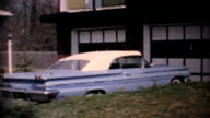 1960's Car Parked In Front Of Home-Vintage 8mm film video