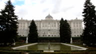 Sabatini gardens and Royal Palace in Madrid, Spain video