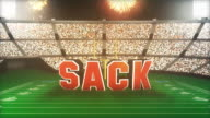 Sack! Football Animation With Alpha video