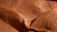 sack with coffee beans (dolly shot) video