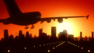 Sacramento California USA America Skyline Sunrise Landing video