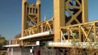 Sacramento Tower Draw Bridge Rising video