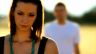 HD - Sad Couple in Field video