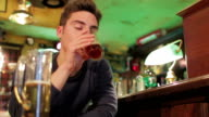sad man gets drunk video