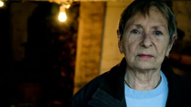 Sad old woman video