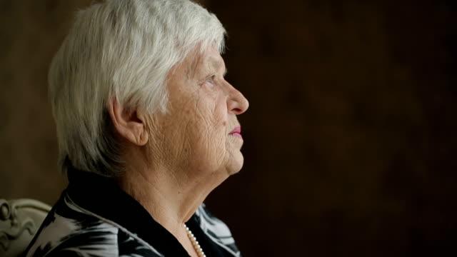 Sad Senior Woman video