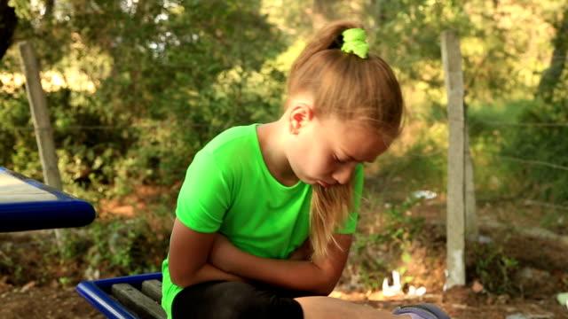 Sad young girl video