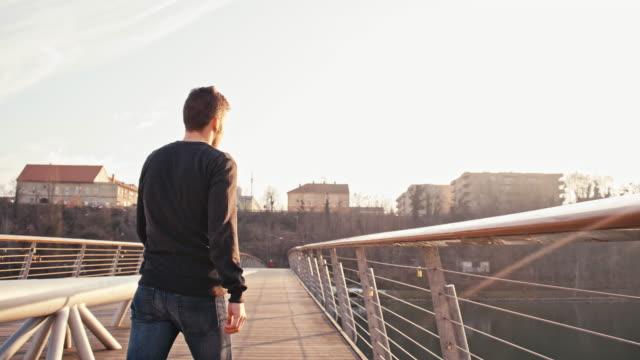 MS Sad Young Man On The Bridge video