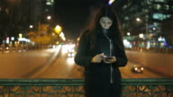 Sad young woman browsing her smartphone. video