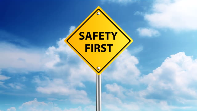 Safety first sign video
