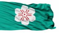 Saga Prefecture Isolated Waving Flag video