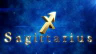 Sagittarius (Zodiac Air Signs)   Loopable video