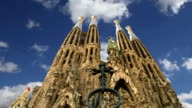 Sagrada Familia by Antoni Gaudi in Barcelona, Spain video