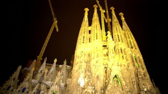 Sagrada Familia church, Gaudi design, UNESCO World Heritage site, architecture video