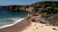 Sagres beach, Algarve, Portugal - popular for surfers video