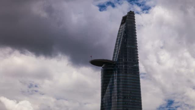 Saigon Skyscraper with cloudscape video