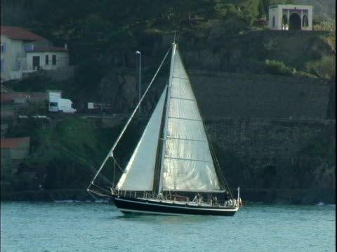 Sail boat in Collioure France video
