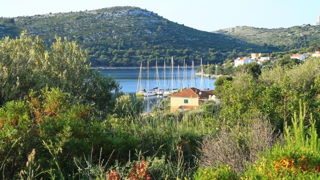 HD DOLLY: Sail Boats Along Mediterranean House video