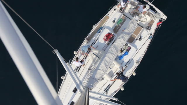 HD: Sailboat from top of the mast video