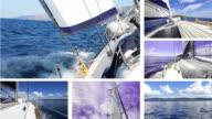 HD: Sailboat journey video