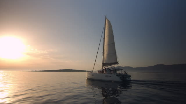 Sailboat On Sunset video
