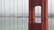 Sailboat Passing Behind Golden Gate Bridge video