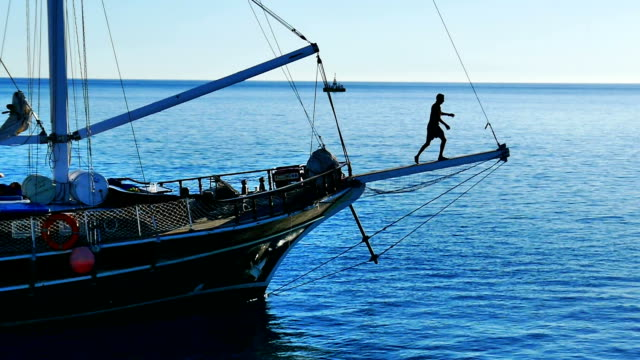 Sailboat. Red Sea, Egypt video