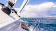 MS Sailboat Sailing On The Ocean video