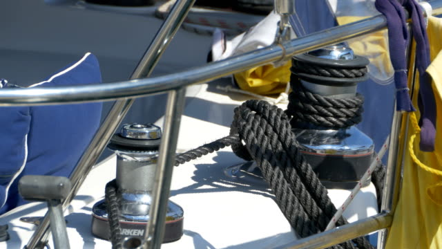 Sailboat Winch And Rope video