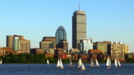 Sailboats on the Charles River in Boston, Massachusetts video