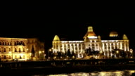 Sailing across the Danube. Budapest. Hungary. video