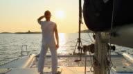 HD: Sailing At Sunset video