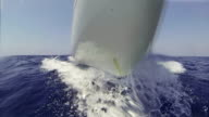 Sailing Boat bow during cruise video