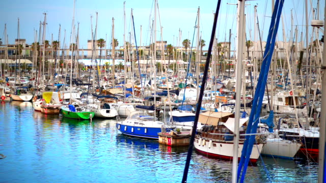 Sailing Boats in Barcelona video
