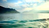Sailing boats in Lake Luzern video