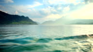 Sailing boats in the Lake Luzern video