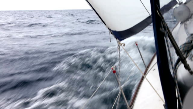 HD: Sailing in the wind with sailboat video