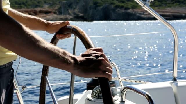 Sailing - Man at rudder video
