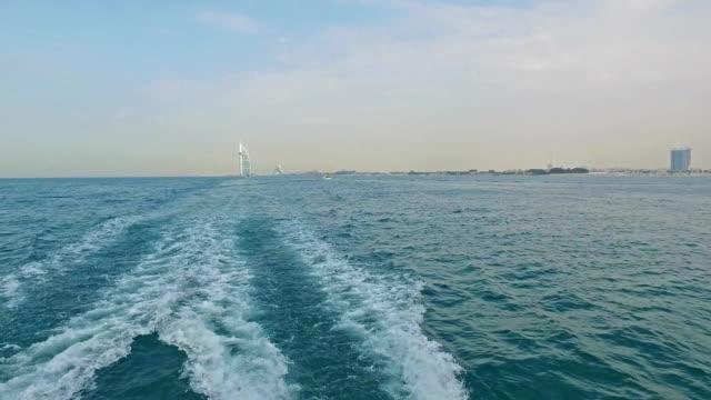 Sailing near the Burj Al Arab in Dubai video