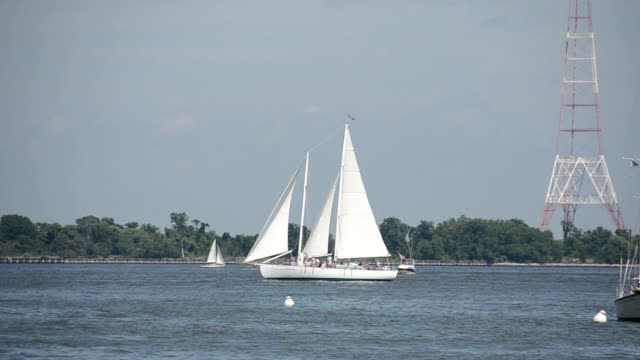 Sailing on the Chesapeake bay video