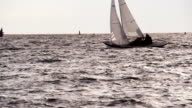 Sailing out to Sea at Sunset video