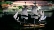 Sailing ship close to video
