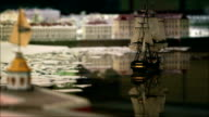 Sailing ship goes into port video