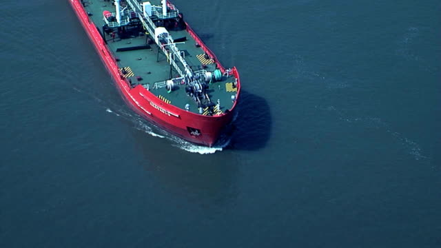 Sailing ship under the camera video